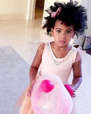 Blue Ivy Carter and her beautiful curly hair.