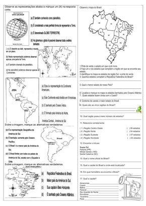 Atividades de História e Geografia com descritores e de acordo com o CBC. Ensino Médio e Fundamental.