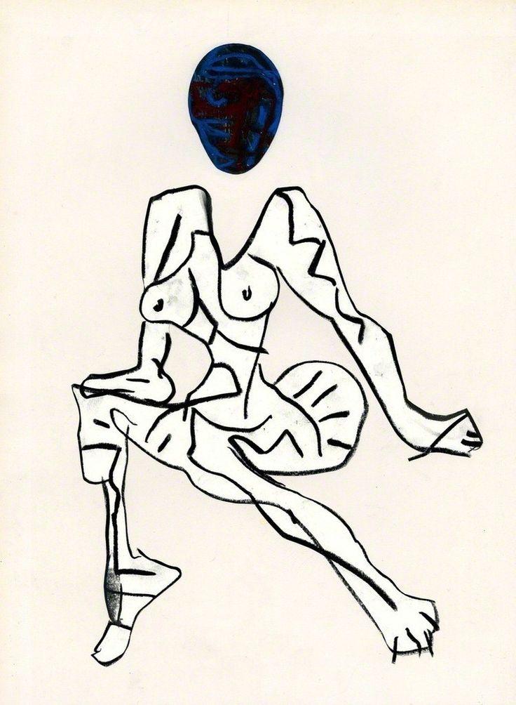 "Jason Brinkerhoff, ""Untitled"", 2012, graphite and wax pastel on paper"