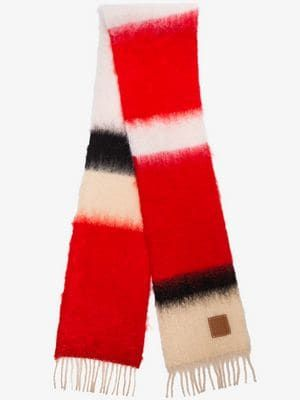 aa366249ea5 red knitted mohair wool scarf