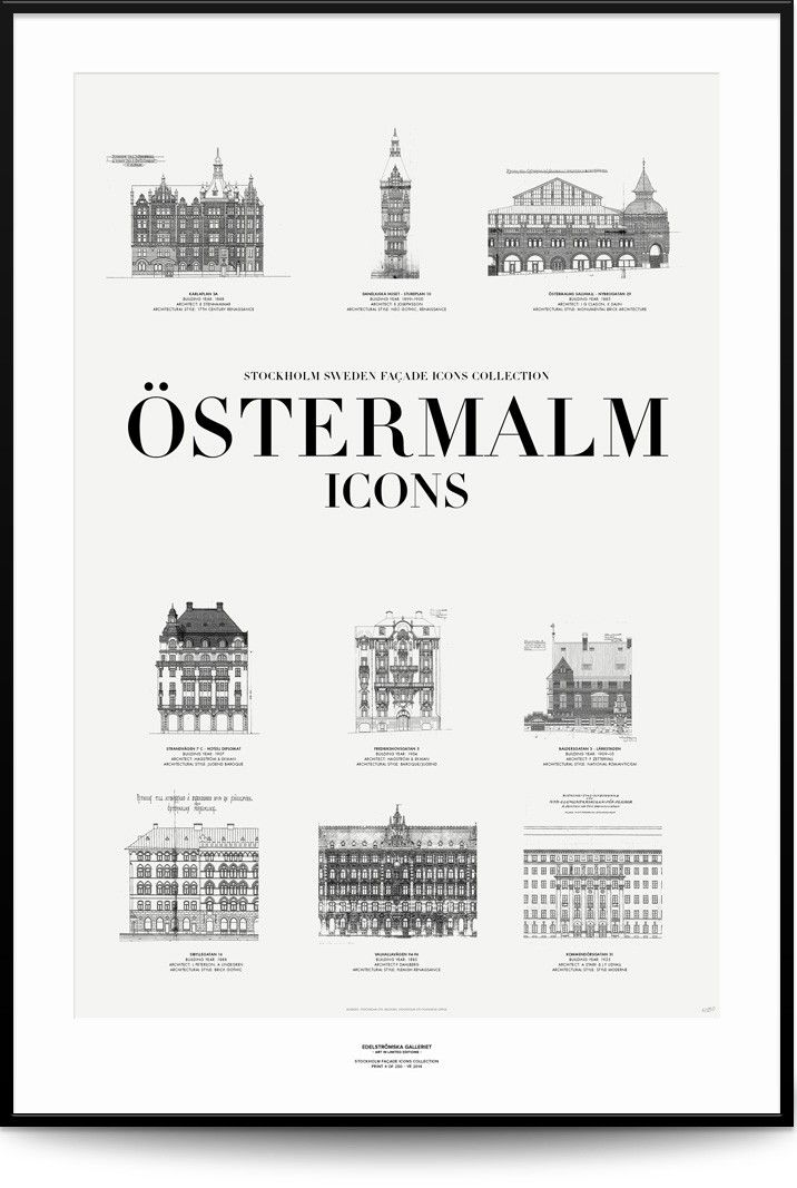 ÖSTERMALM ICONS via Edelströmska Galleriet. Click on the image to see more!