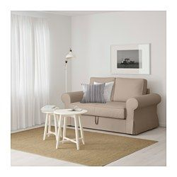 IKEA - BACKABRO, Divano letto a 2 posti, Tygelsjö beige,  , , Il divano è facile da trasformare in un letto estraendo la base e aprendo i cuscini del sedile e dello schienale.Le molle insacchettate si adattano al tuo corpo e tengono dritta la spina dorsale mentre dormi.Un materasso rigido, che ti offre un buon sostegno ed è utilizzabile tutte le notti.Nel contenitore sotto il sedile puoi organizzare, per esempio, la biancheria da letto.La fodera è facile da tenere pulita poiché è…