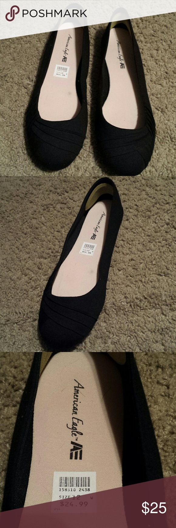 Brand new black ladies shoe Classic chic black shoe. Brand new. Fits all color American Eagle Outfitters Shoes Flats & Loafers