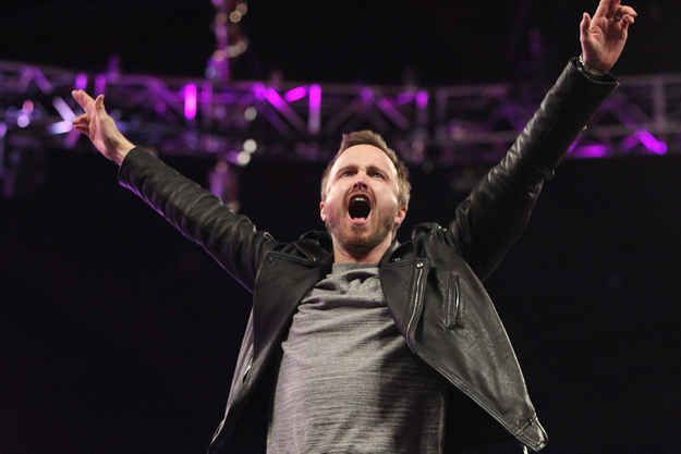 YEAH, BITCH! | Aaron Paul Drove A Mustang Into The Arena Of WWE Monday Night Raw Last Night