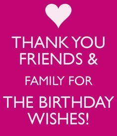 thank you for all the birthday wishes   THANK YOU FRIENDS & FAMILY FOR THE BIRTHDAY WISHES! - KEEP CALM AND ...