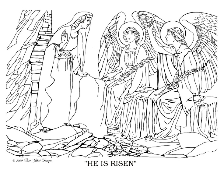 free bible coloring pages he is risen resurrection other religious ones as - Bible Coloring Pages For Kids