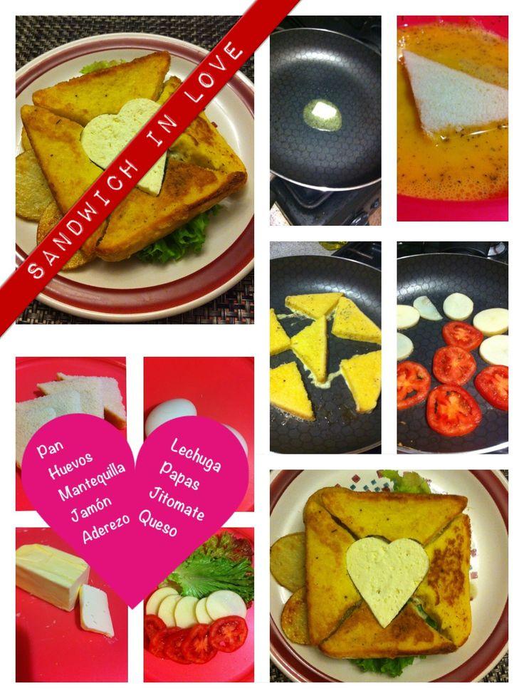 Sandwich in love - Romantic idea for this San Valentine