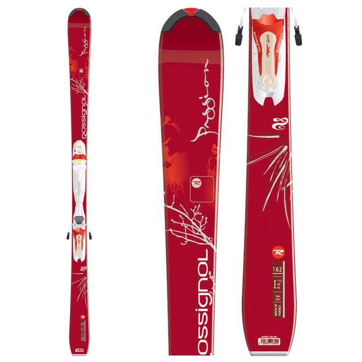 women's rossignol skis | Rossignol Passion Skis + Rossignol Saphir 90 Bindings 2009
