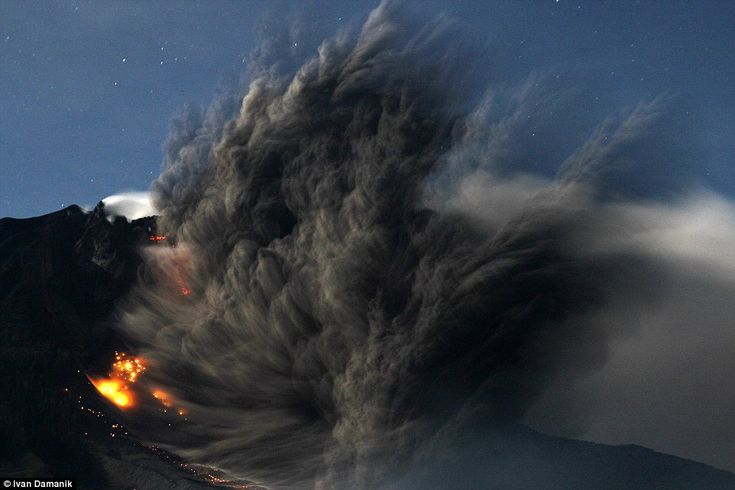 Blast: The volcano has been erupting sporadically since September, leaving the landscape b...