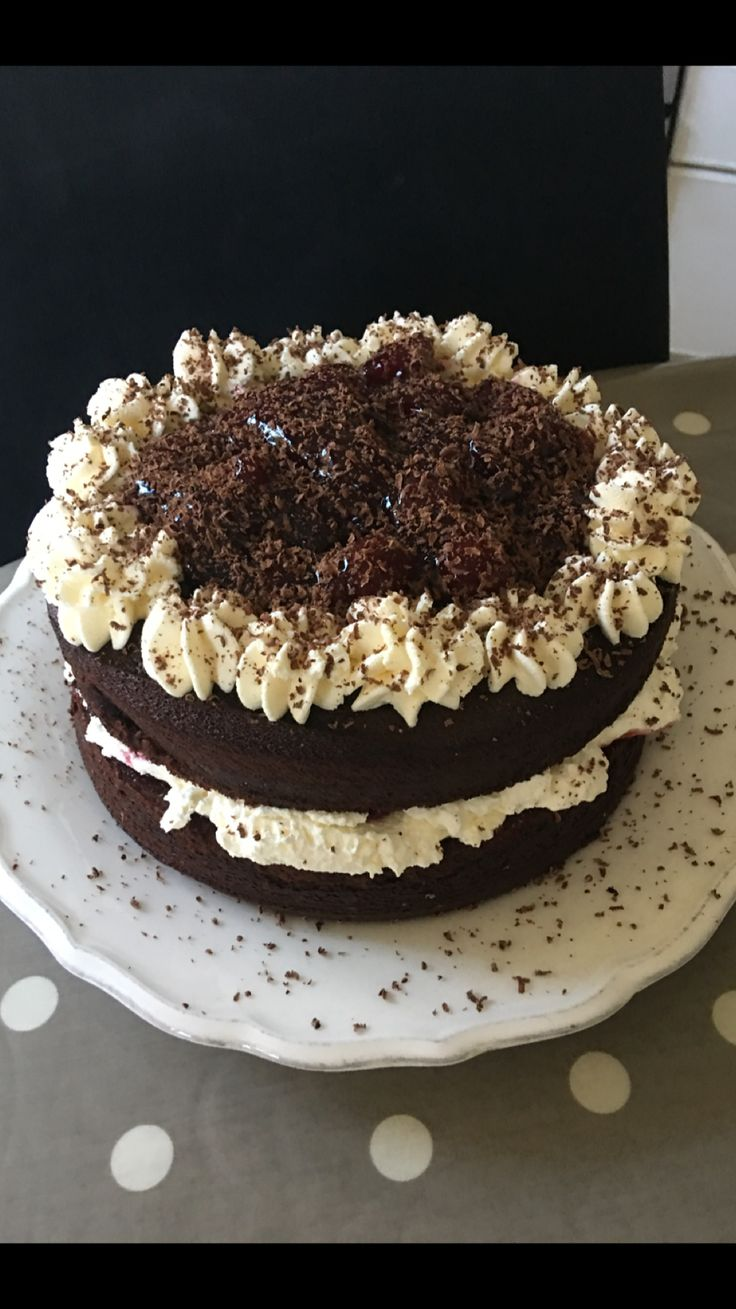 Retro Black Forest gateaux