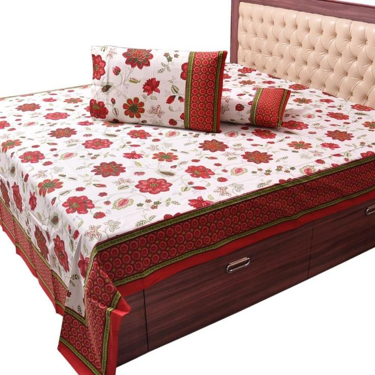 Pure #Cotton Floral Print Double #BedSheet Set #onlineshopping http://goo.gl/2jGUJJ