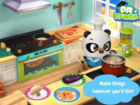 Dr. Panda's Restaurant 2 - prepare meals for your customers: choose from 20 ingredients (fish, tomatoes, eggs etc) then chop them, bake or boil to prepare the dish. Original Appysmarts score: 86/100 #iPhone #iPad