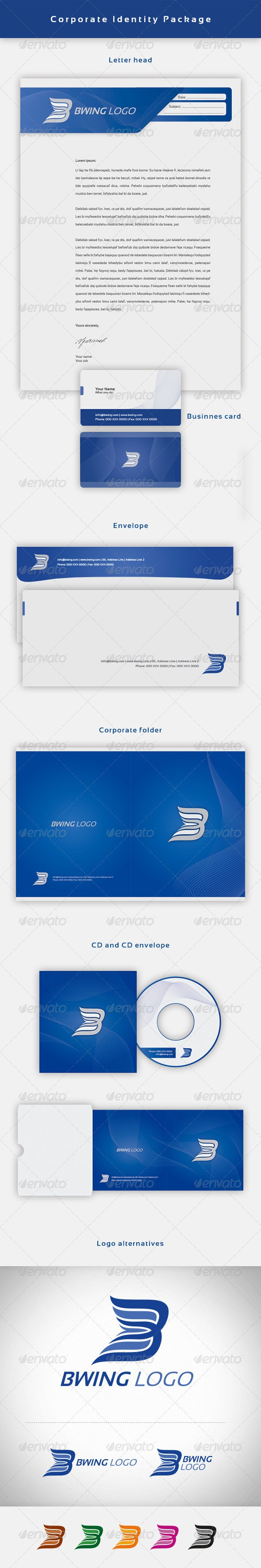 Bwing Corporate Identity Package