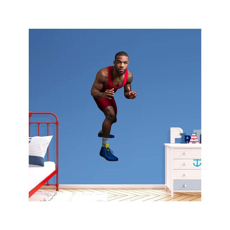 Team USA Jordan Burroughs Wall Decal by Fathead, Multicolor