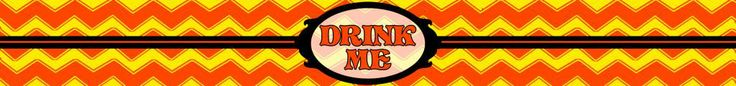 Drink Me Bottle label - Tweedle Style - Alice in Wonderland - Disney-inspired Party Printable ~~~~~~~~~ Size: (2550x300px). This label is designed to be printed at 8.5 x 1 inches. Simply print out and stick around your drink bottle for instant Wonderland fun! Clipart belongs to Disney. Chevrons from www.clker.com . Font is Storybook www.dafont.com/storybook.font This label is **Personal use only - NOT for sale/resale/profit**