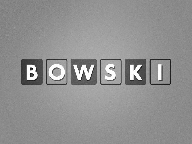 Bowski by Adi Dick - Dribbble
