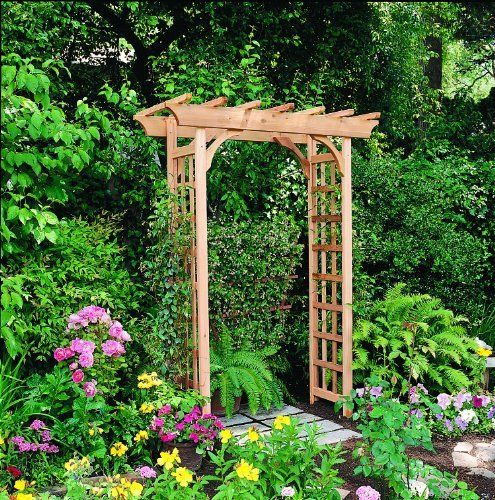 PHAT TOMMY Rosedale Arbor by Phat Tommy. $359.95. Packaged in a single carton and complete with all hardware and easy-to-use instructions. Includes 4 galvanized steel anchors for securing arbor with cement. Made in the USA of premium grade, 100% Western Red Cedar.. To accommodate varying path widths, the Rosedale has an adjustable opening width with pre-drilled settings of 36, 42 and 48 inches. For lasting strength, the pre-assembled side panels feature furniture-style, mortise a...