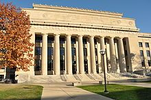 Angell Hall at The University of Michigan, one of the major buildings in the school of Literature, Science and the Arts.  Designed and built by famous architect Albert Kahn.