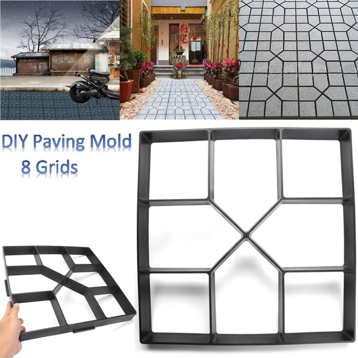 check price plastic path maker mold manually paving cement brick stone road concrete molds diy plastic #paving #bricks