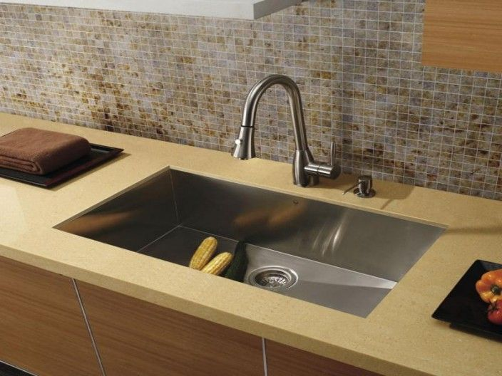 A Large Single Bowl Stainless Steel Kitchen Sink Bowl That Features An Extra Deep Sink