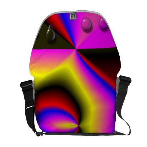 Colorful strange pattern messenger bag