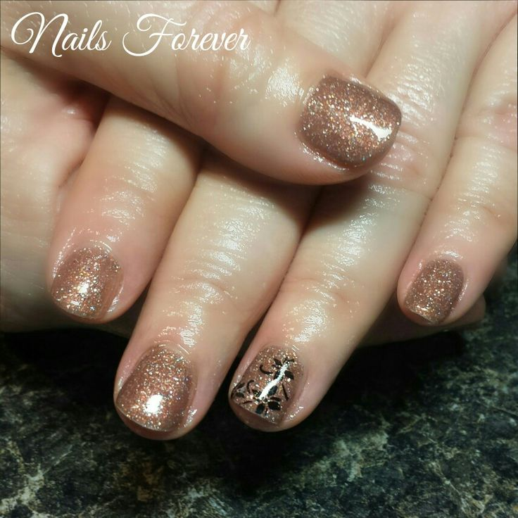 Gel Nails 2016. Gel Polish Nails. Chocolate Sparkles.