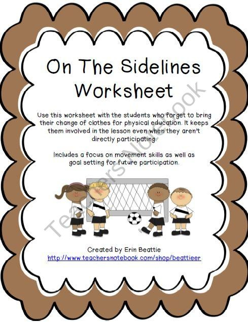 Physical Education Class Non Participation Activity Pe