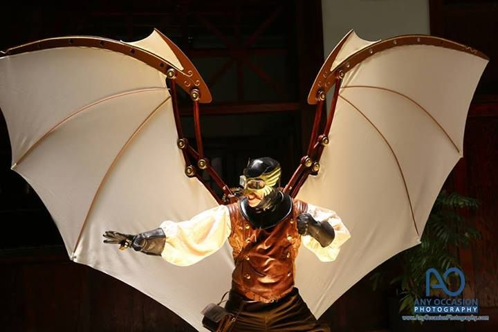 Incredible steampunk wings! Photo by Any Occasion Photography