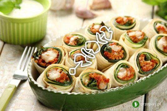 Roladki z cukinii #partyfood #courgette #snackfood