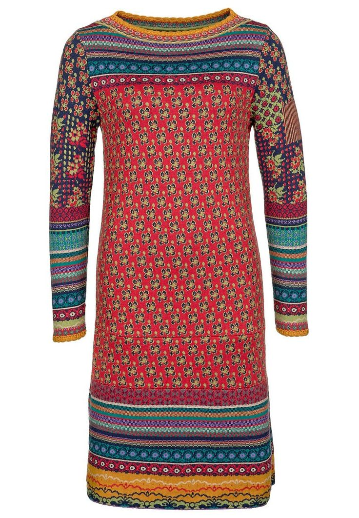 Ivko - Jumper dress - red I adore this dress! Love the clashing patterns