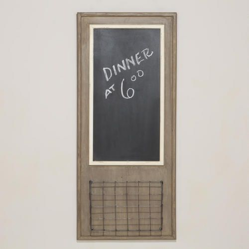 One of my favorite discoveries at WorldMarket.com: Chalkboard with Wire Basket