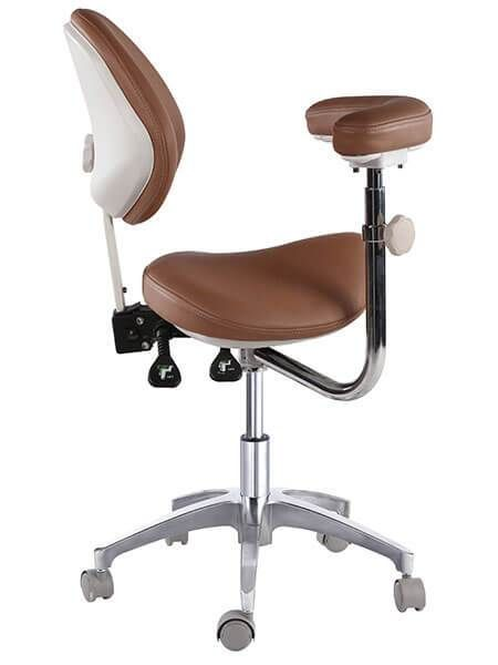 Saddle Style Dental Assistant Stool With Swing Arm