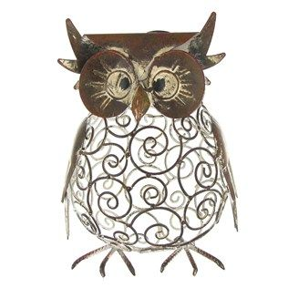 Brown Metal Plump Owl--I don't know why but I think this is cute...don't know if it would go in my house or not.