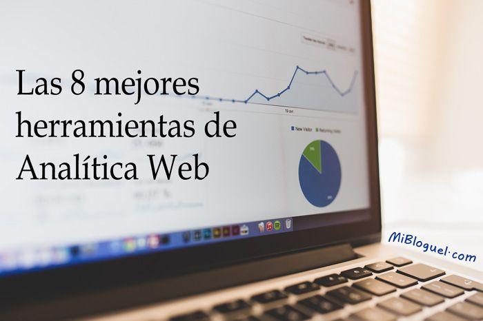 Listado de las 8 mejores herramientas de analítica web, para generar buenos informes y ayudarnos en nuestra estrategia de marketing digital. #Estadísticas #TráficoWeb #Métricas