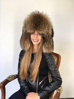 739aa6c2 Raccoon Fur Hat Adjustable Saga Furs Full Ushanka Hat | fur akssesuars |  Pinterest | Fur, Hats и Hat sizes
