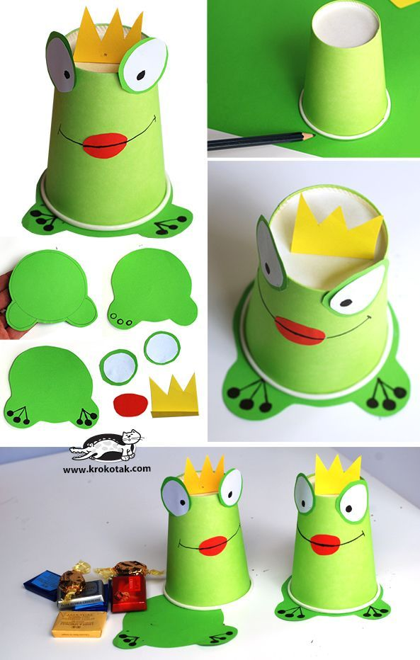 goodies box from paper cups the princess and the frog party kiddo birthday parties pinterest crafts for kids crafts and frog crafts