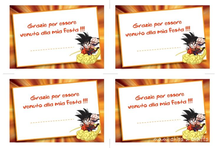 mami chips & crafts: Inviti di compleanno pronti da stampare - Dragon Ball