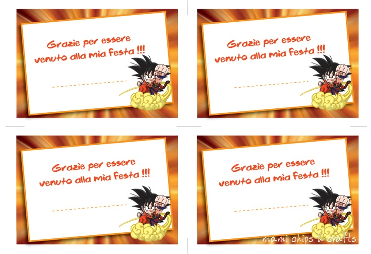 mami chips & crafts: Inviti di compleanno pronti da stampare - Dragon Ball