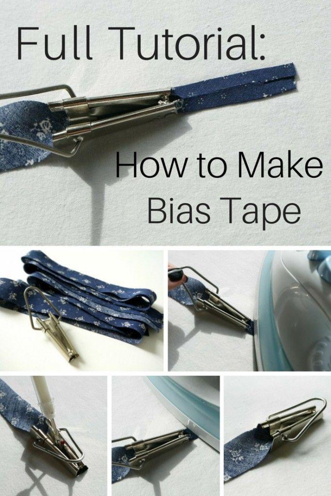 Full Tutorial: How to Make Bias Tape