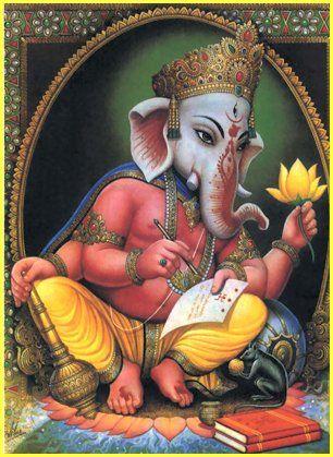 Shri Ganesh! (Very sweet picture.)