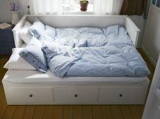 lit gigogne blanc à tiroirs