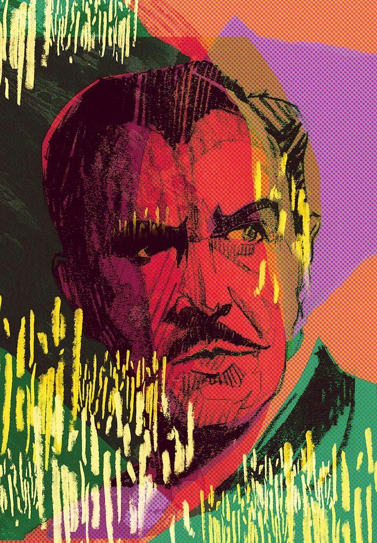 Vincent Price | Dwayne Bell illustration
