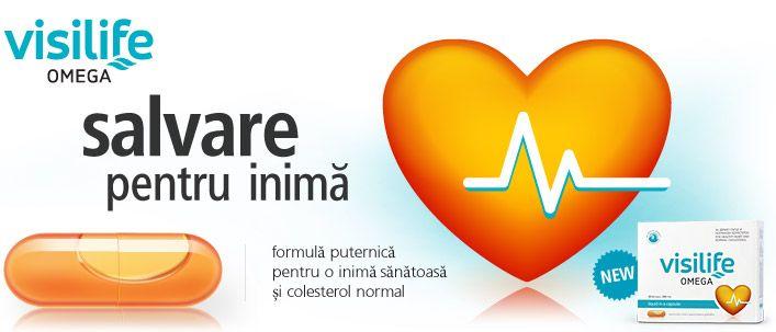 Visilife Omega - 30 cps - inimă sănătoasă. Contribuie la funcția normală a inimii și la menținerea tensiunii arteriale optime.