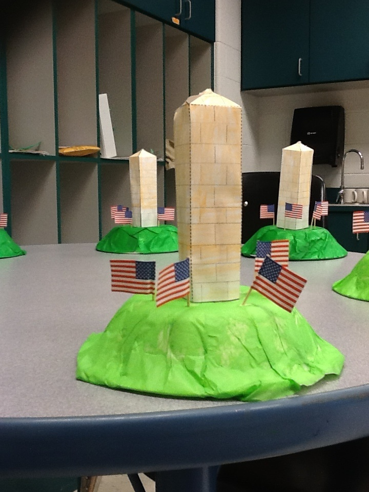 craft ideas for school projects washington monument craft second grade 6232