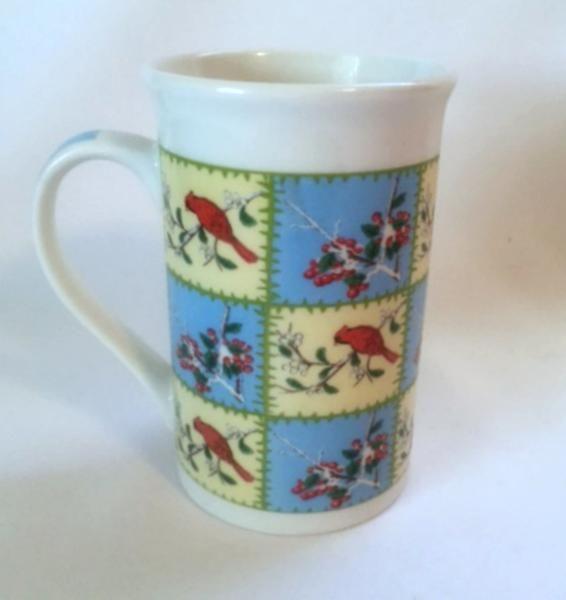 Cardinal Mug Red Birds Berries Nature Tall Coffee Mug