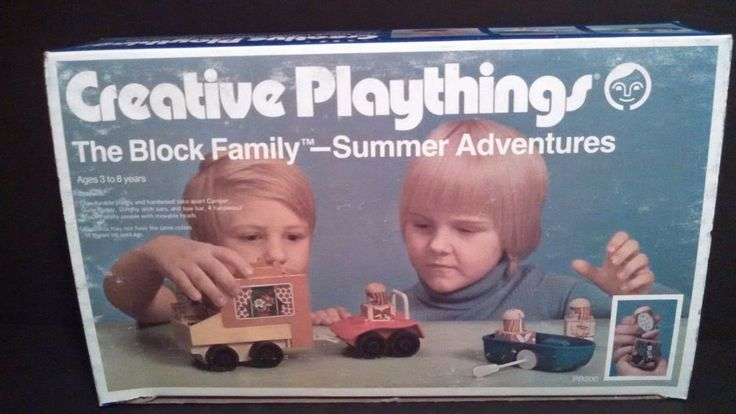 Vintage Creative Playthings Block Family Summer Adventures Playset PB200 In Box #CBSIncCreativePlaythings