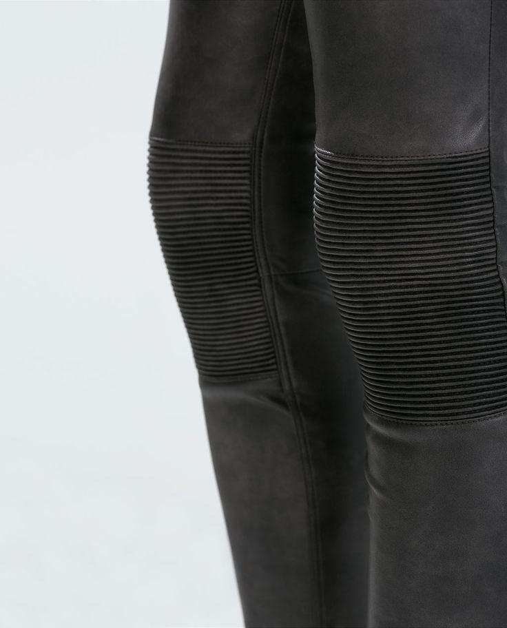 Image 4 de PANTALON BIKER de Zara 50 € GRIS