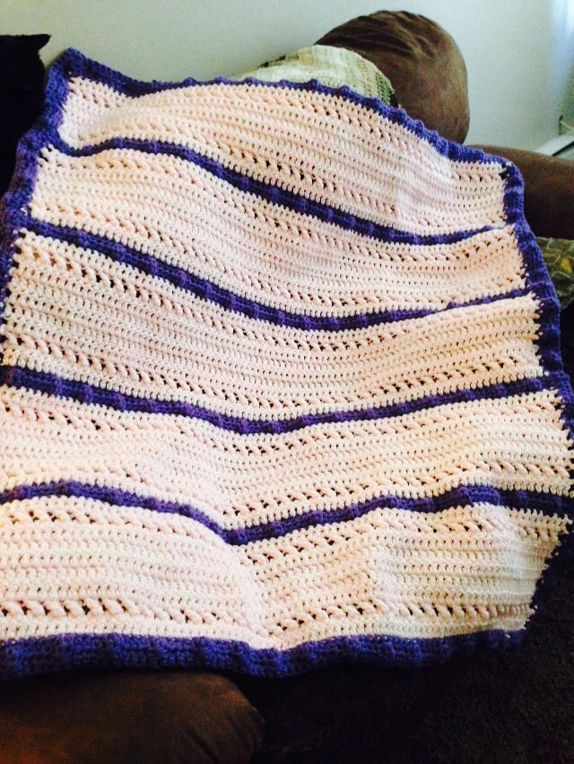 Finished XXOO'S baby blanket