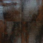 "Found it at Wayfair Supply - Nickel Antares 20"" x 20"" Porcelain Metal Tile in Brown"