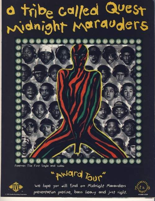Advertisement for A Tribe Called Quest's 'Midnight Marauders'